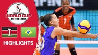 KENYA vs. BRAZIL - Highlights | Women's Volleyball World Cup 2019