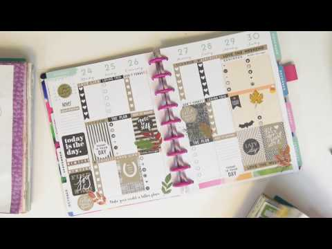 Plan With Me ~ Black And Kraft ~ MAMBI Watercolor Happy Planner