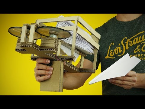 Thumbnail: DIY Semi-Automatic Paper Plane Launcher from Cardboard at Home