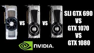 QUAD SLI 690 VS GTX 1070 VS GTX 1080 в 4 играх
