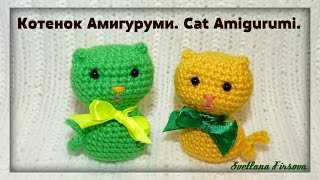 Crochet Amigurumi Cat Tutorial  Вязание крючком  Котята  Амигуруми