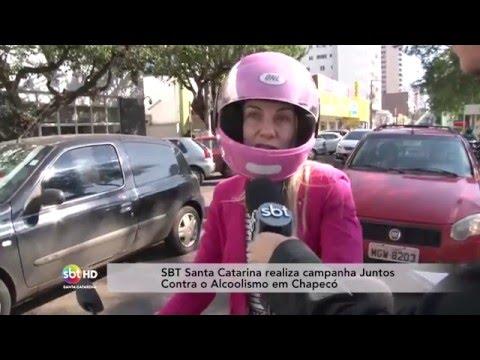 SBT Santa Catarina realiza campanha Juntos Contra o Alcoolismo em Chapecó