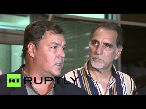 Russia: 'Cuban Five' arrive in Moscow ahead of Victory Day celebrations