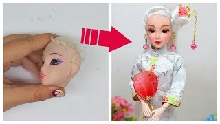 DIY BARBIE Transformation ,HAIRSTYLES and CLOTHES/ DIY Traditional Chinese Hairpin for dolls