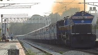Creeping Garib Nawaz Express Led by Smoking Hubli WDP4B in LHF