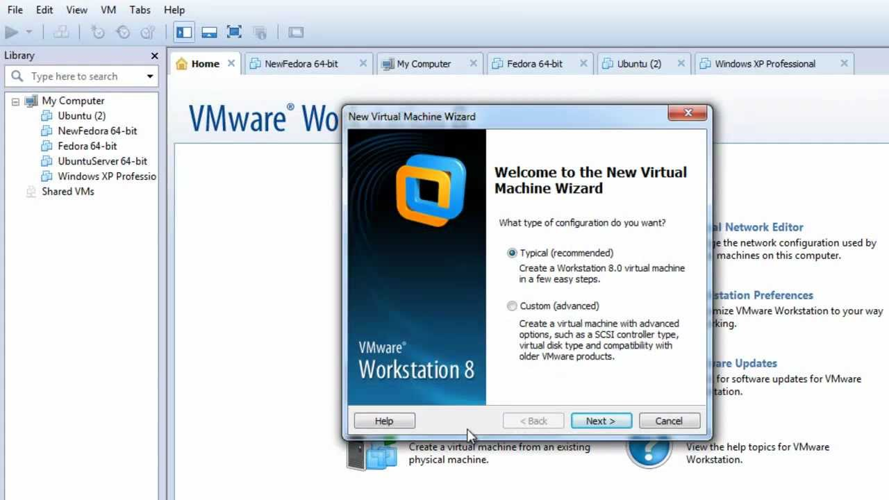 Creating virtual machines in VMware Workstation (1018415)
