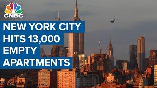 New York City hits 13,000 empty apartments