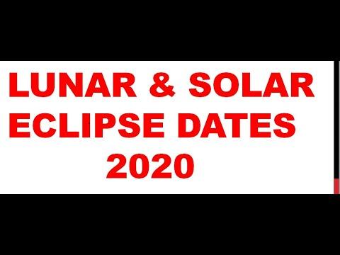 Eclipse Calendar 2020