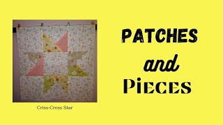 Patches n Pieces Criss Cross Star Block
