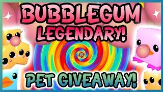 💎Legendary Pet Giveaway Event 🍬 Bubblegum Simulator - NEW Update #16 (Roblox)