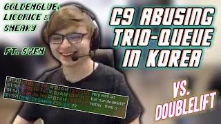 The C9 Trio Faces Off Against Doublelift in KR Solo Q (Best KR Bootcamp Moments #6)