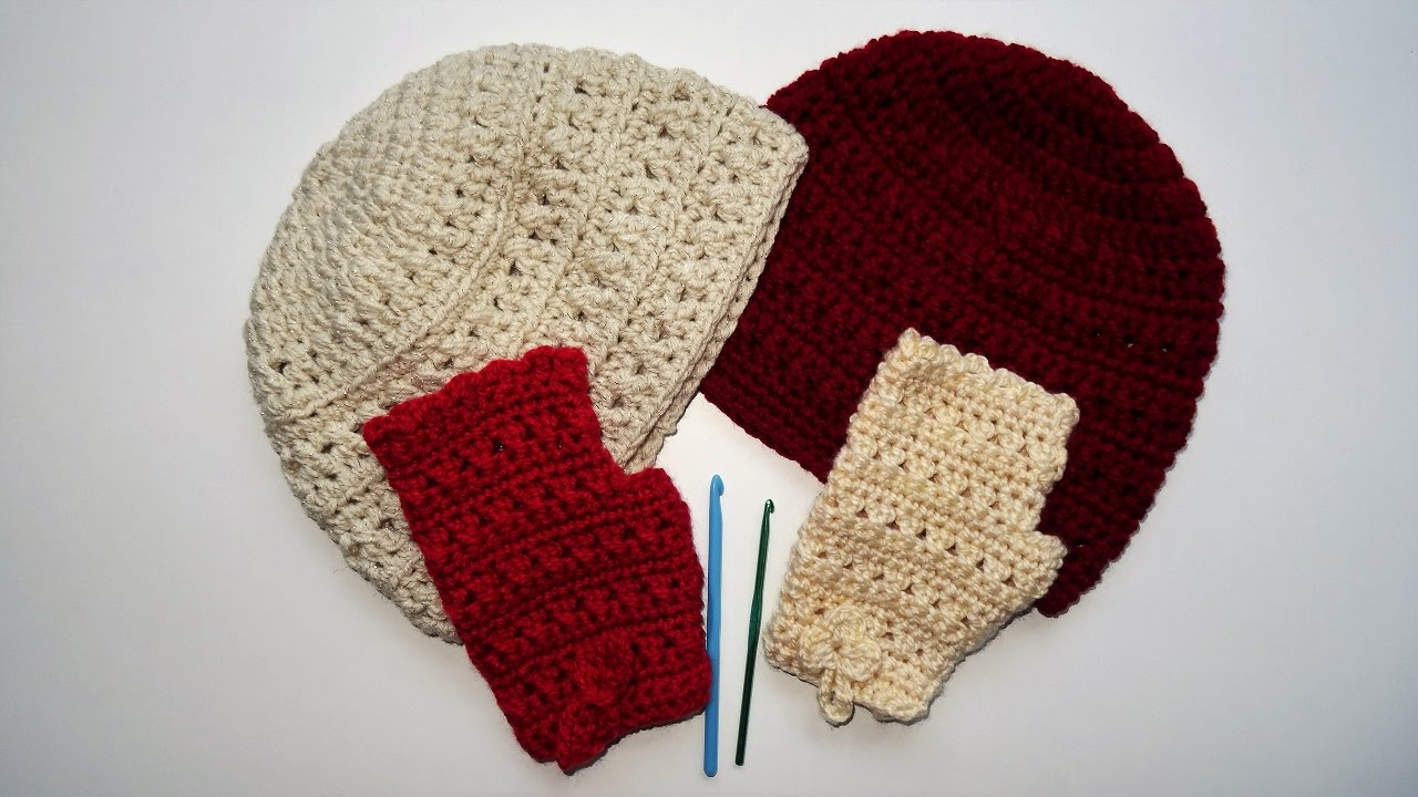 Heklane kape i rukavice (Crochet hats and gloves) - YouTube 512927abc2