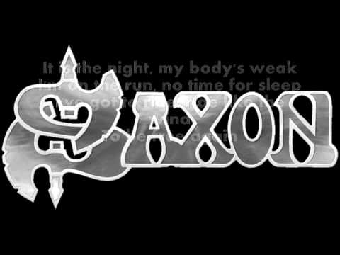 Saxon - Ride like the wind LYRICS ON SCREEN