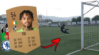 HOW GOOD IS A 54 RATED KEEPER IN REAL LIFE ? Boume sama vs Pro goalkeeper