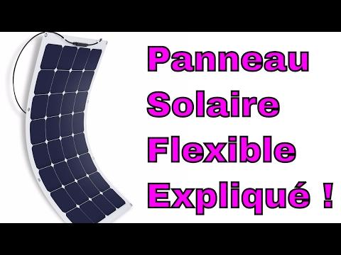 Panneau Solaire Flexible Monocristallin Polycristallin Léger RV Bateau Review Francais ThinkUnBoxing