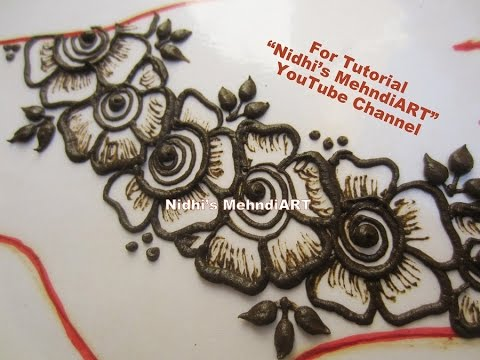 Diy Easy Shaded Arabic Flower Henna Mehndi Art Design Tutorial For