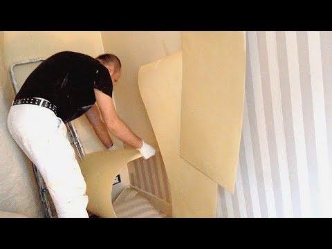 d coller du papier peint facilement youtube. Black Bedroom Furniture Sets. Home Design Ideas