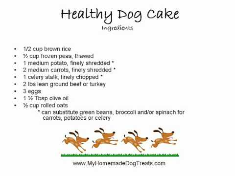 Healthy Dog Birthday Cake Recipe