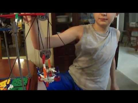 K Nex Block And Tackle Levers And Pulleys Set Youtube