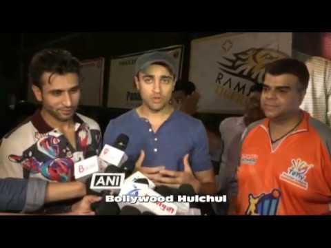 Imran Khan And Sooraj Pancholi At Tony Cricket Premiere League Final Match