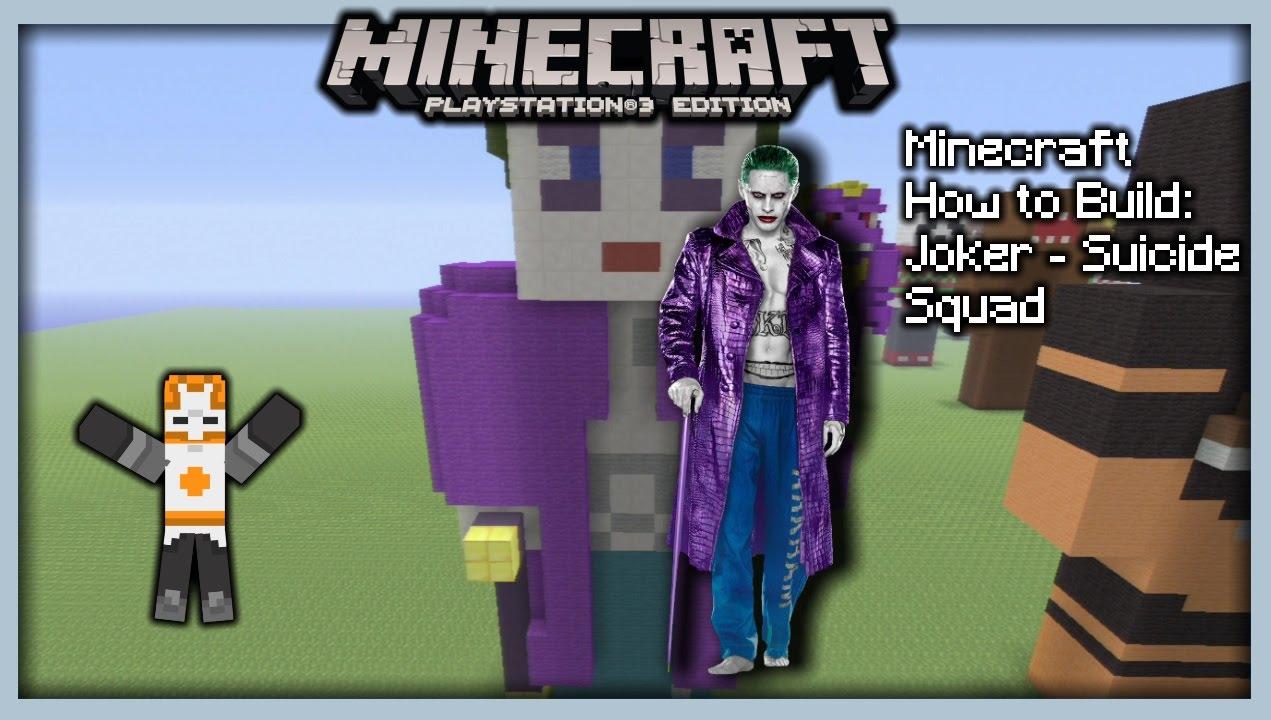 minecraft how to build joker suicide squad statue. Black Bedroom Furniture Sets. Home Design Ideas