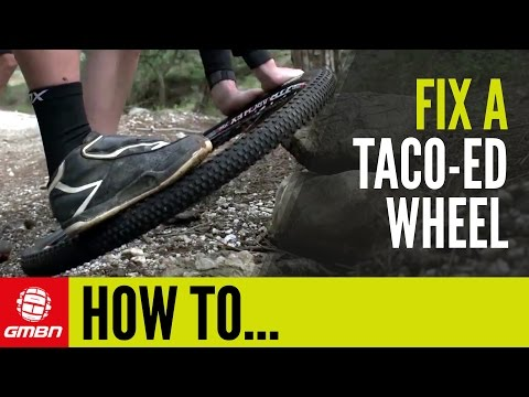 How To Fix A Buckled Wheel – Straighten A Taco-ed/Pringled Wheel | Trailside Maintenance