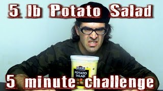 5 lb Potato Salad Challenge In 5 Minutes Dry? | FreakEating Vs The World 68