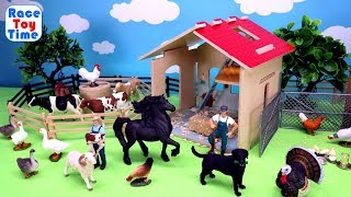 Toy Farm Animals and Barn Fun Toys For Kids - Learn Animal Names