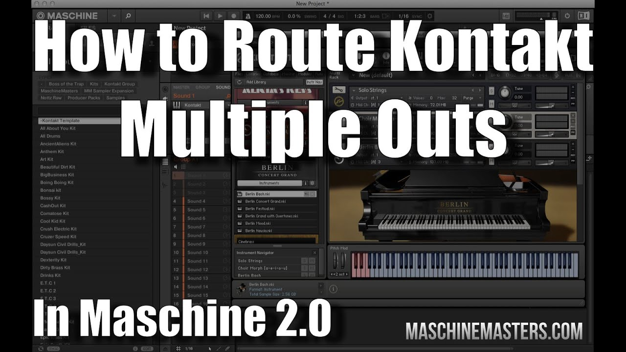 Maschine 2.0 How to Route Kontakt Multiple Outs into Maschine Sounds/Pads