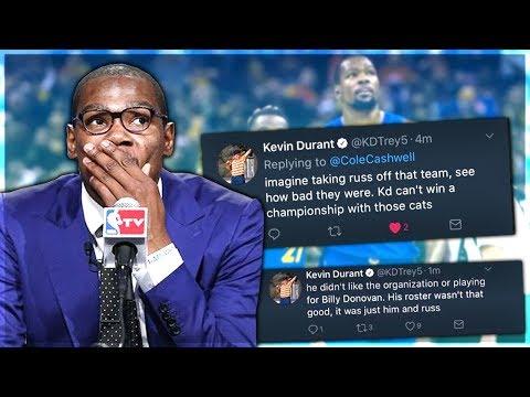 KEVIN DURANT CAUGHT USING FAKE TWITTER ACCOUNTS! #NBADRAMA