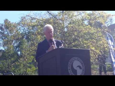 Bill Clinton speech at Cape Fear Community College, Wilmington, NC, on October 26th, 2016