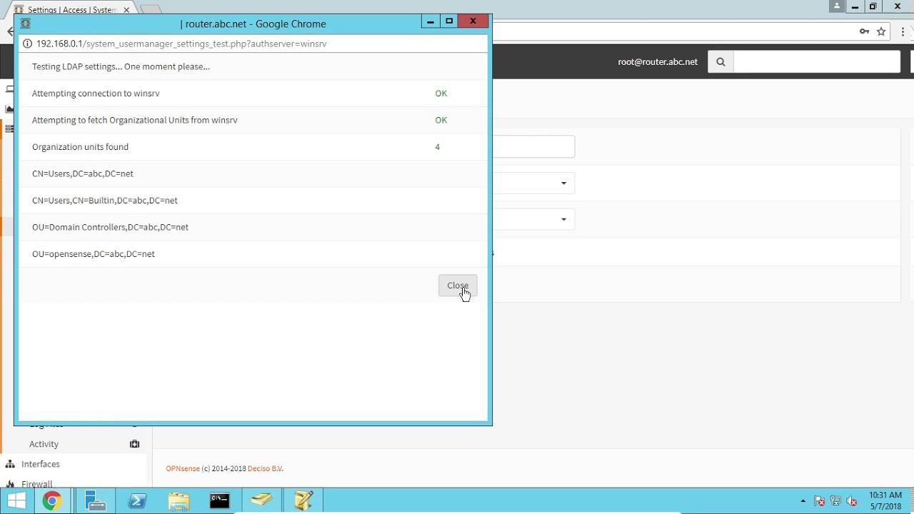 OPNsense Captive Portal with LDAP authentication Setup part 7