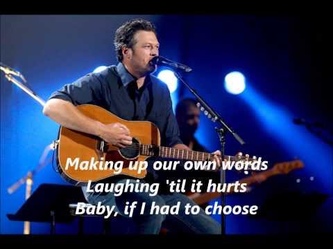 Blake Shelton Mine Would Be You with Lyrics