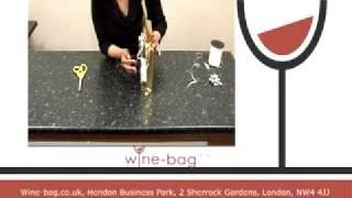 Www.wine-bag.co.uk Wine Bag Wine Box Gift Wrapping Tutorial 6