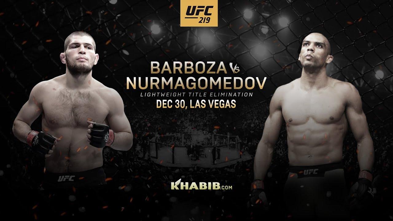 Хабиб Нурмагомедов vs Эдсон Барбоза / UFC219 / 31.12.2017