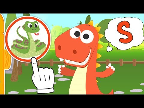 Aprende con Eddie las letras con animales 🐵🐍🦁 Eddie el dinosaurio aprende los animales