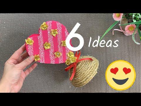 6 IDEAS CON RECICLAJE♻️Manualidades