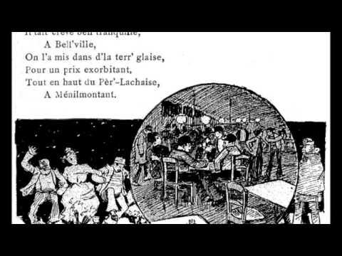 Aristide Bruant - Belleville-Ménilmontant (avec paroles)