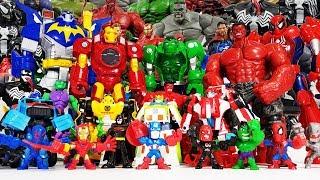 The Avengers, Red Hulk, Spider-Man, Iron Man, Thor, Captain America, Fidget Spinner Toys!