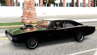 GTA San Andreas - Dodge Charger RT dominic toretto FnF 7