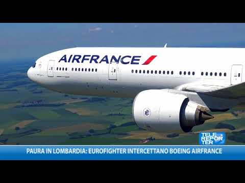 Paura in Lombardia: Eurofighter intercettano Boeing AirFrance