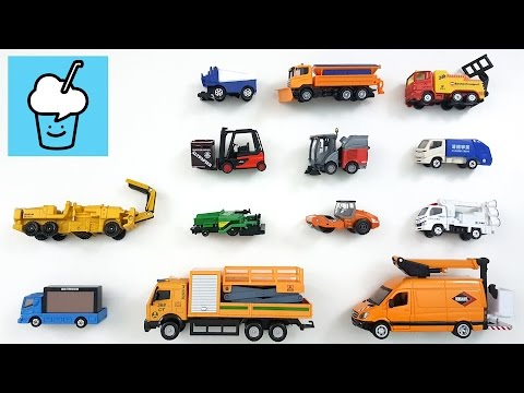 Learning Special Utility vehicles for kids with tomica トミカ siku