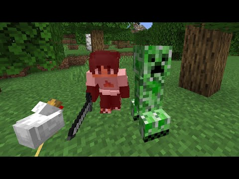 Minecraft, But Mobs Are Randomly Hostile…