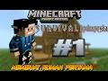 Minecraft PE Survival Indonesia #1 Membuat rumah pertama