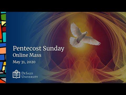 ✟ Pentecost Sunday - Online Mass, May 31, 2020