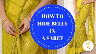 Instantly hide your belly in saree