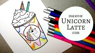 DIY || How to Draw and Color a Unicorn Latte