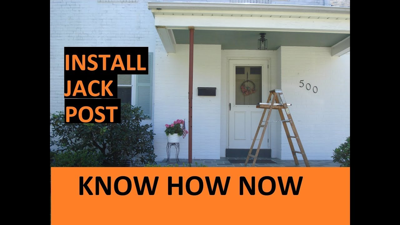 hight resolution of how to install a jack post