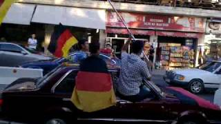 World Cup 2010: Celebrations in Aley after Germany vs Argentina game!