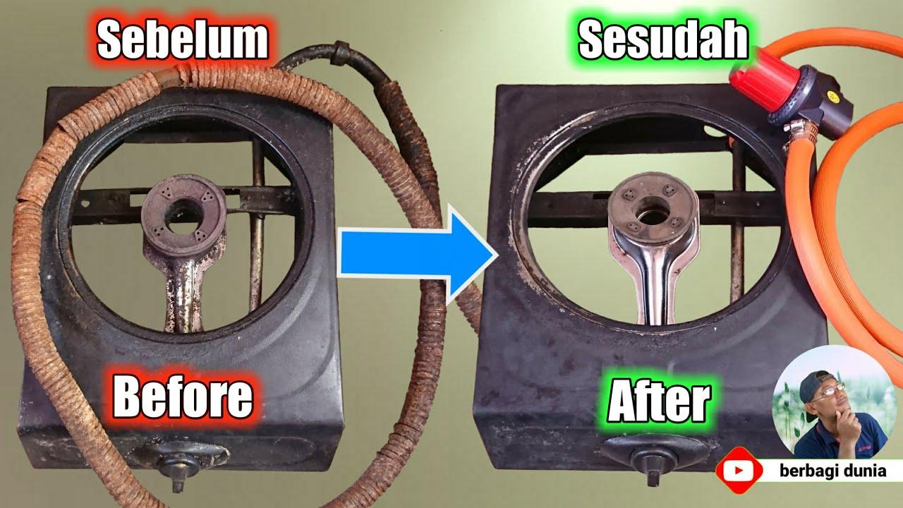 Modifikasi Kompor Gas Lama Tidak Dipakai Jadi Kompor Gas Api Besar Untuk Jualan